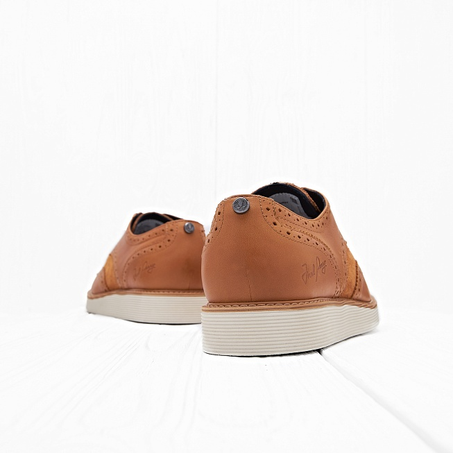 Ботинки Fred Perry NEWBURGH BROGUE LEATHER/SUEDE Light Tan - Фото 1