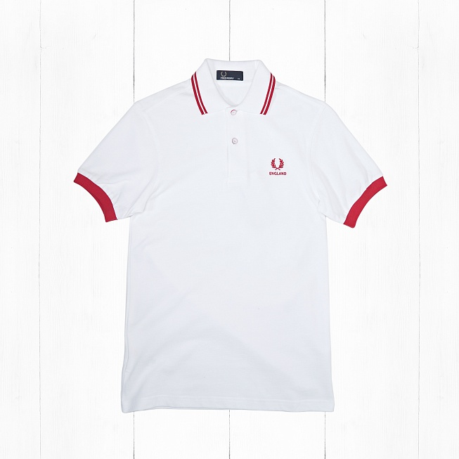 Поло Fred Perry COUNTRY SHIRT ENGLAND White