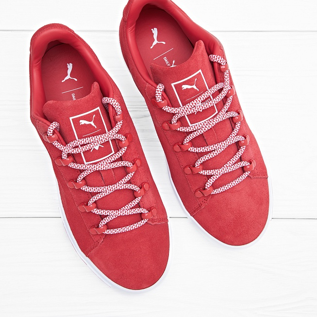 Кроссовки Puma x DP COURT PLATFORM S High Risk Red - Фото 3
