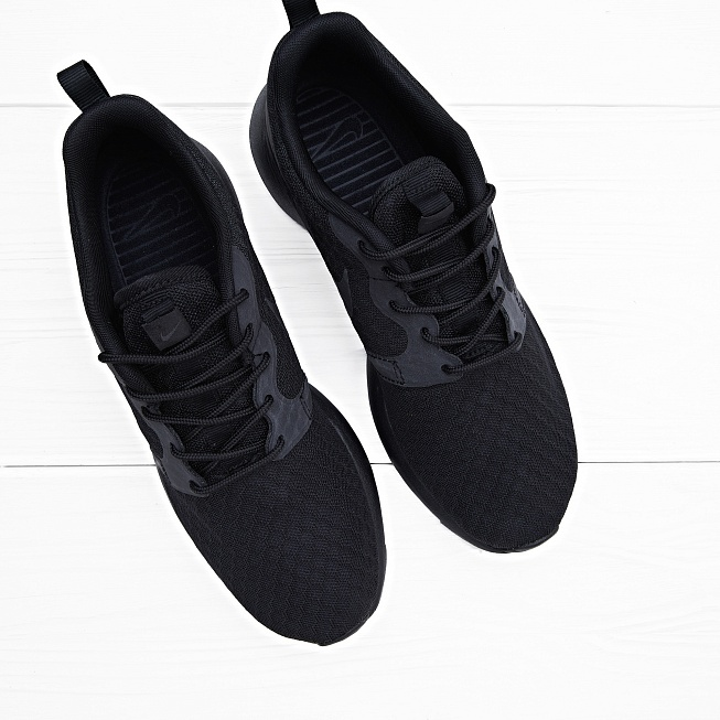 Кроссовки Nike ROSHE ONE HYP Black - Фото 2