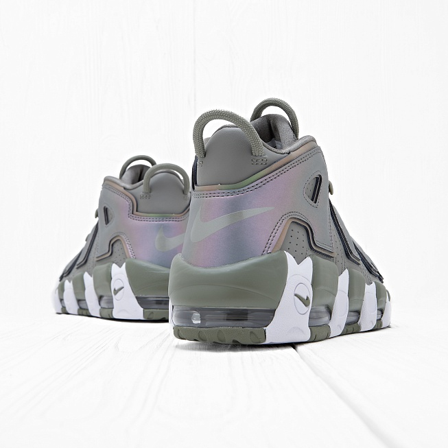 Кроссовки Nike W AIR MORE UPTEMPO Dark Stucco/White/Black - Фото 2