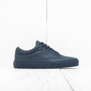 Кеды Vans OLD SKOOL REISSUE Midnight Navy Leather