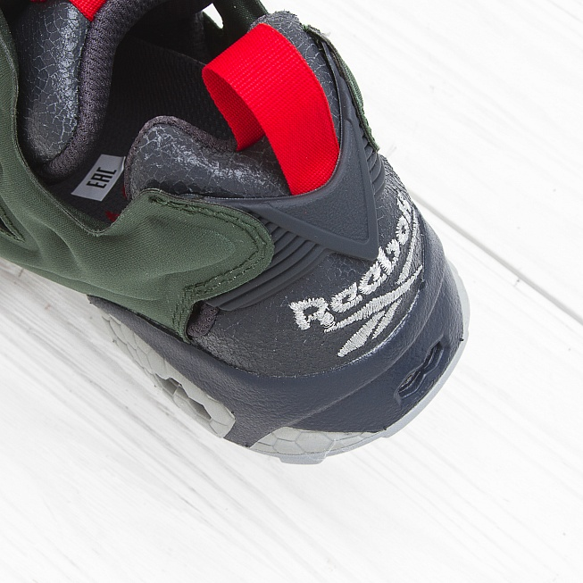 Кроссовки Reebok INSTA PUMP FURY OG Black/Primal Green/Baseball Grey/Scarlet - Фото 6