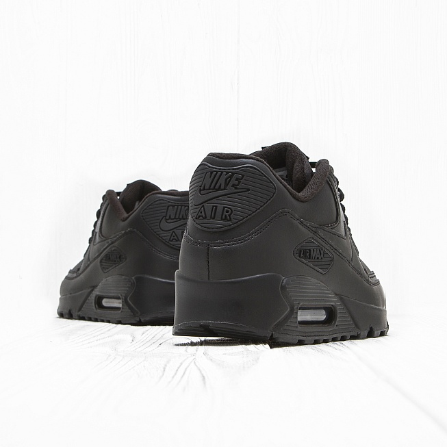 Кроссовки Nike AIR MAX 90 LEATHER Triple Black - Фото 2