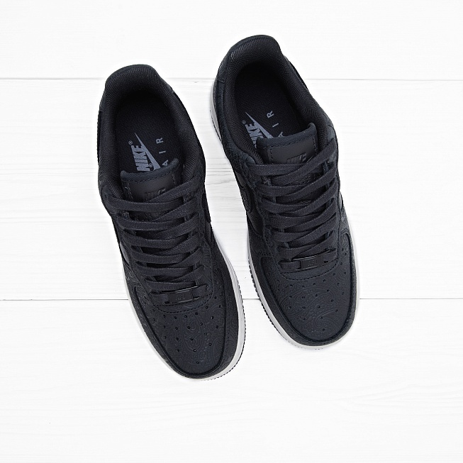 Кроссовки Nike W AIR FORCE 1 07 PRM ESS Black/Black-Light Bone - Фото 2