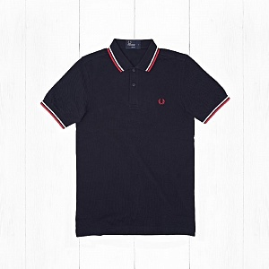 Поло Fred Perry TWIN TIPPED Navy/White