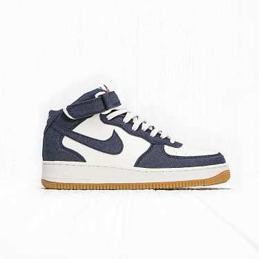 Кроссовки Nike AIR FORCE 1 MID 07 Obsidian/Obsidian-Sail-Gum Light Brown