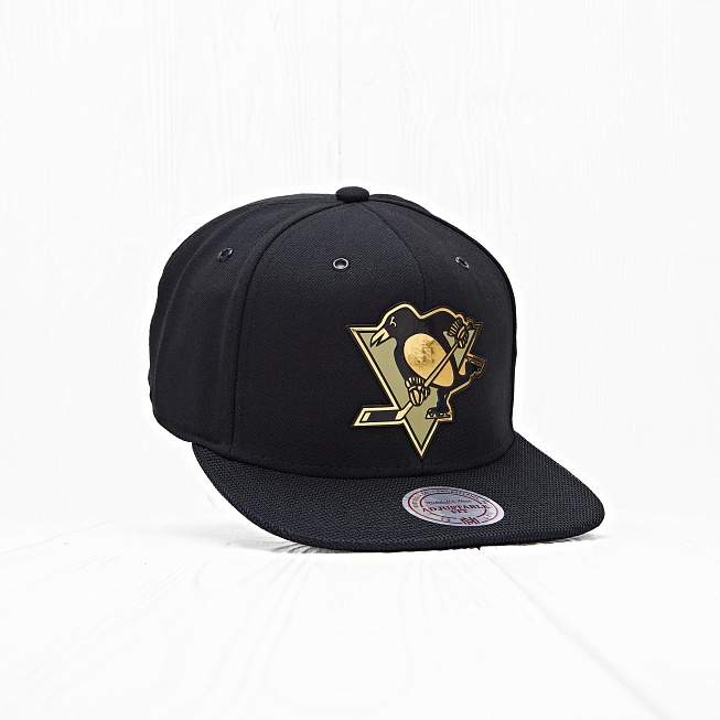 Снепбек Mitchell & Ness NHL PITTSBURGH PENGUINS Carat Black