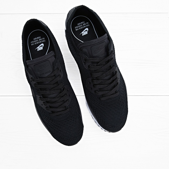 Кроссовки Nike AIR MAX 90 ULTRA 2.0 FLYKNIT Black/Black-White - Фото 3