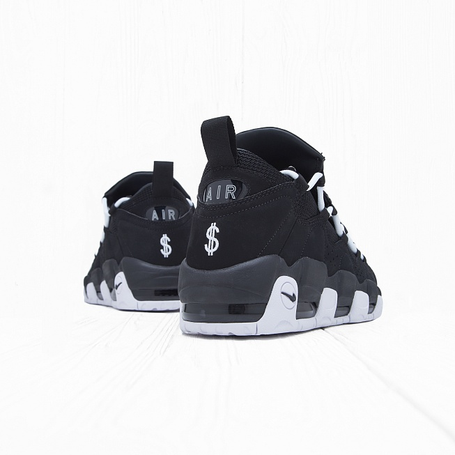 Кроссовки Nike AIR MORE MONEY Black/White-Black - Фото 2