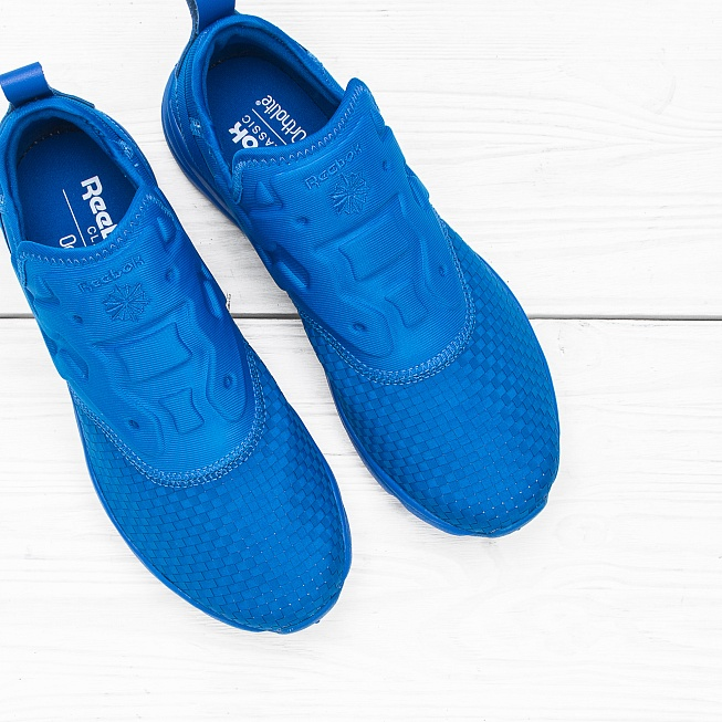 Кроссовки Reebok FURYLITE SLIP-ON WW Blue Sport - Фото 3