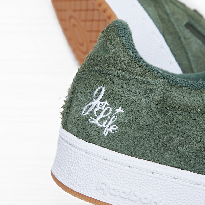 Кроссовки Reebok x Curren$y CLUB C 85 JL Primal Green/White Hemp - Фото 6