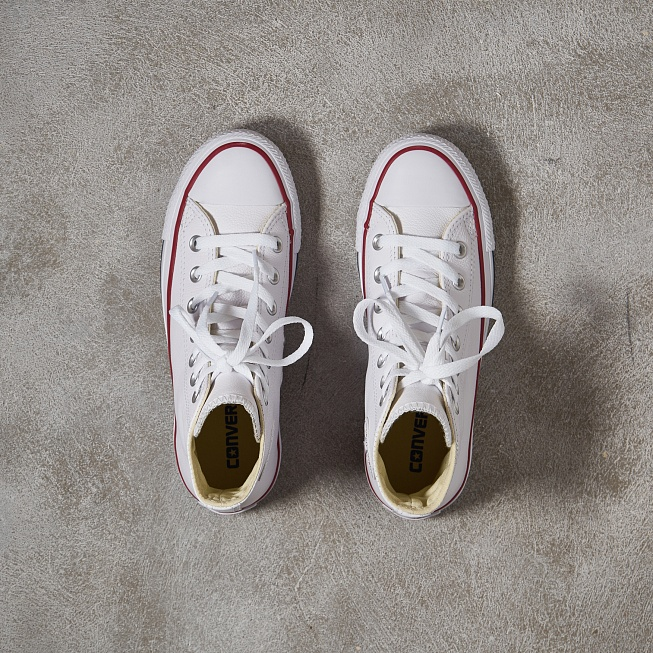 Кеды Converse CHUCK TAYLOR ALL STAR HI LEATHER White - Фото 3