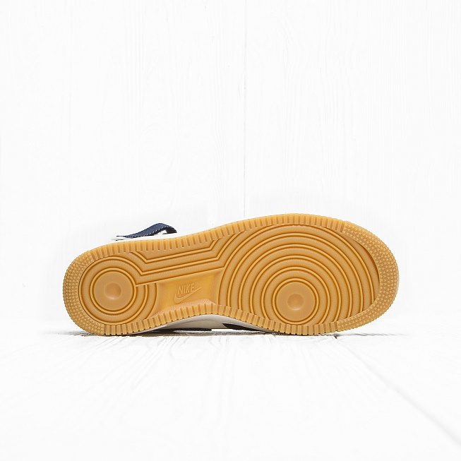 Кроссовки Nike AIR FORCE 1 MID 07 Obsidian/Obsidian-Sail-Gum Light Brown - Фото 1