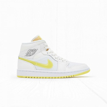 Кроссовки Jordan W AIR JORDAN 1 MID SE White/Voltage Yellow