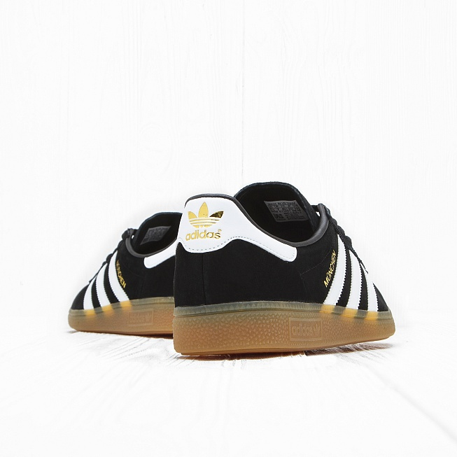 Кроссовки Adidas MÜNCHEN Core Black/Footwear White/Gum - Фото 2
