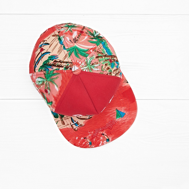 Снепбек Obey ADVENTURE SNAPBACK Red - Фото 3