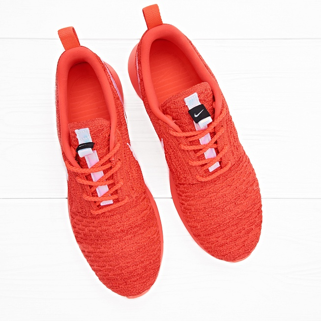 Кроссовки Nike ROSHE NM FLYKNIT Bright Crimson/White-University Red - Фото 3