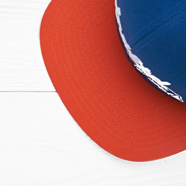 Бейсболка Undefeated WAR PAINT CAP Blue - Фото 2