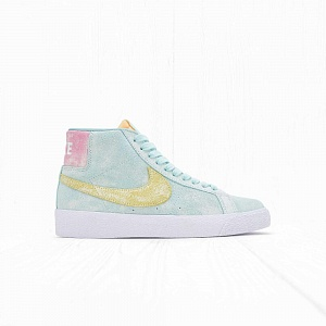 Кроссовки Nike SB ZOOM BLAZER MID PRM Light Dew/Green Glow/Light Zitron