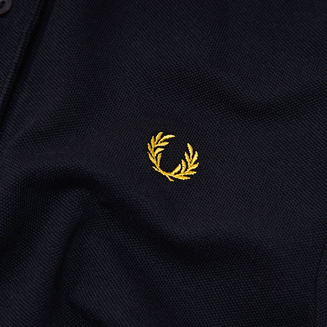 Поло Fred Perry TWIN TIPPED Black/Yellow - Фото 3