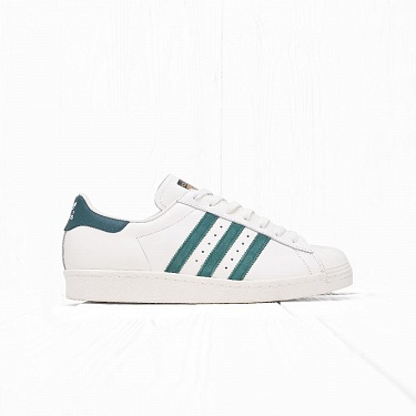 Кроссовки Adidas SUPERSTAR 80s DLX Vintage White/Green/Off White