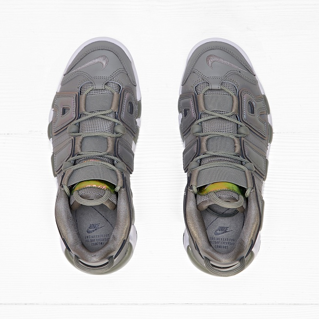 Кроссовки Nike W AIR MORE UPTEMPO Dark Stucco/White/Black - Фото 3