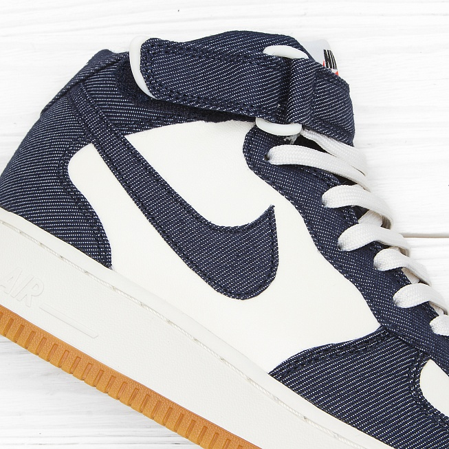 Кроссовки Nike AIR FORCE 1 MID 07 Obsidian/Obsidian-Sail-Gum Light Brown - Фото 3