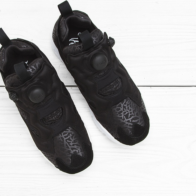 Кроссовки Reebok INSTA PUMP FURY GALLERY Black/White - Фото 3