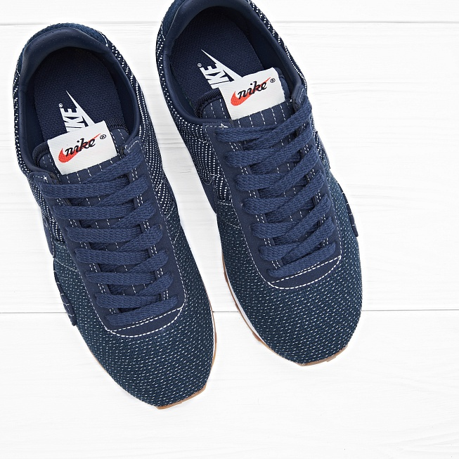 Кроссовки Nike W PRE MONTREAL RACER VNTG PRM Obsidian Gum Med Brown - Фото 3