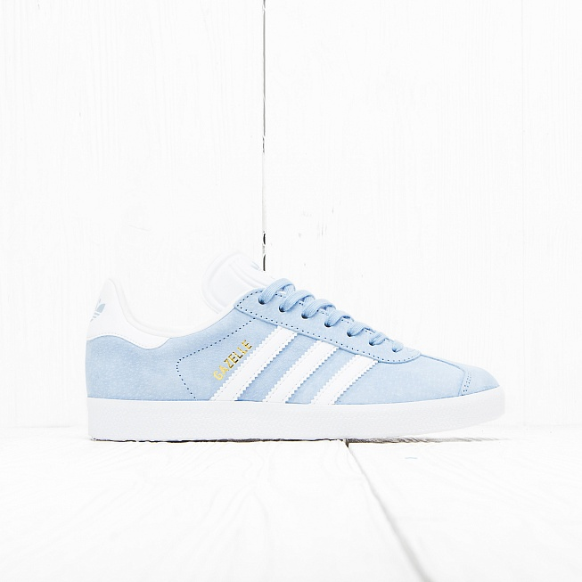 Кроссовки Adidas GAZELLE Clear Sky/Off White/Gold Met