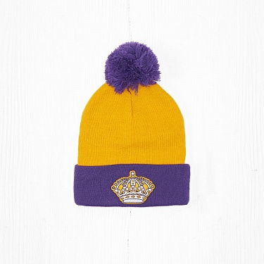 Шапка M&N NHL LOS ANGELES KINGS Yellow/Purple