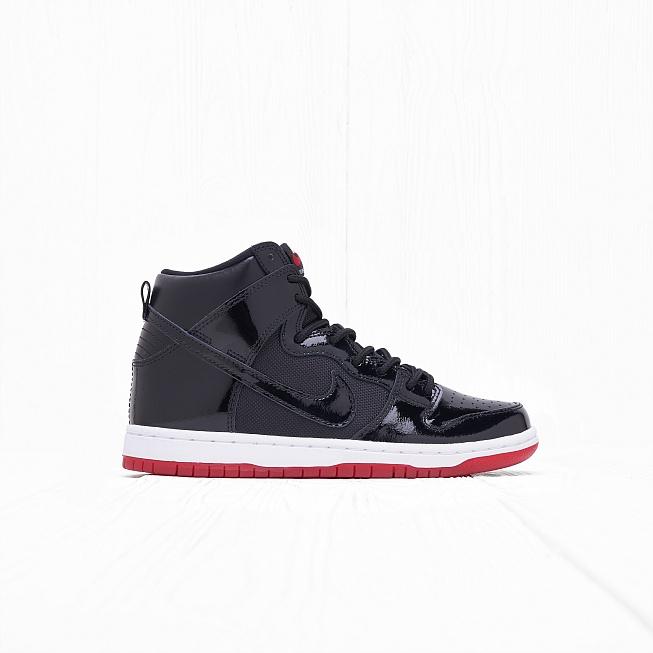 81a43fd4 Кроссовки Nike SB ZOOM DUNK HIGH TR QS Black/Black-White-Varsity Red цена,  купить в интернет-магазине Queens