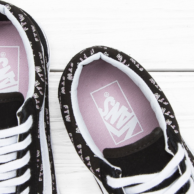Кеды Vans OLD SKOOL (SAYINGS) Black Ftw - Фото 5