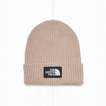 Шапка The North Face LOGO BOX CUFF BE Twill Beige