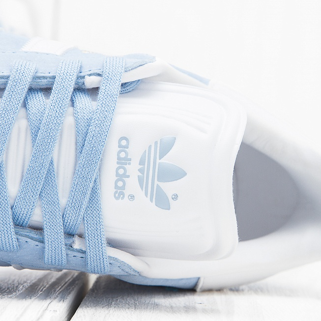 Кроссовки Adidas GAZELLE Clear Sky/Off White/Gold Met - Фото 5