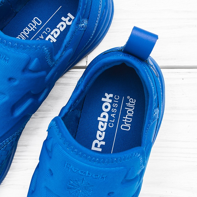 Кроссовки Reebok FURYLITE SLIP-ON WW Blue Sport - Фото 6