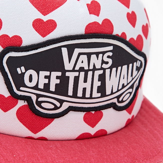 Снепбек Vans BEACH GIRL TRUCKER Hearts Red/White - Фото 1