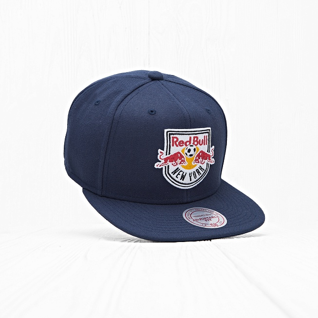 Снепбек Mitchell & Ness MLS NY RED BULLS Wool Navy