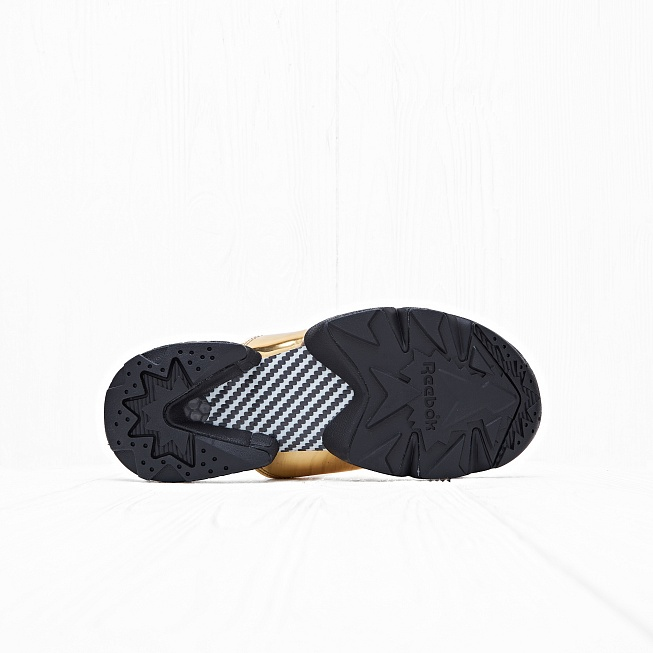 Шлепанцы Reebok FURY SLIDE MAGIC HOUR Gold Metallic/Black/White - Фото 2