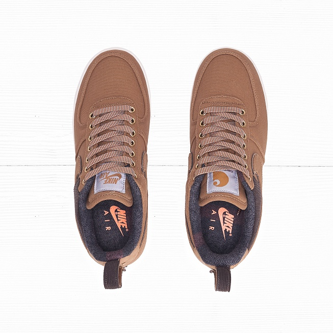 Кроссовки Nike x Carhartt WIP AIR FORCE 1 07 PRM Ale Brown/Ale Brown/Sail - Фото 3