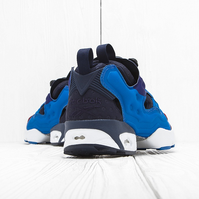 Кроссовки Reebok INSTA PUMP FURY ASYM Blue/Black/Red - Фото 2