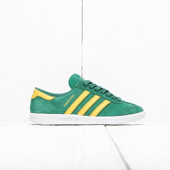 2fcf9e20 Кроссовки Adidas HAMBURG Blanche Green/Spring Yellow цена, купить в  интернет-магазине Queens