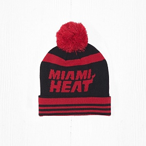 Шапка M&N NBA MIAMI HEAT Black/Red