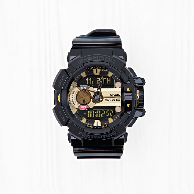 Часы Casio G-SHOCK BLUETOOTH (400-1A9) Black-Gold