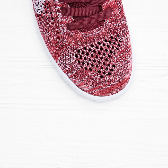 Кроссовки Nike W TENNIS CLASSIC ULTRA FLYKNIT Red/White Team-Smoke Red - Фото 4