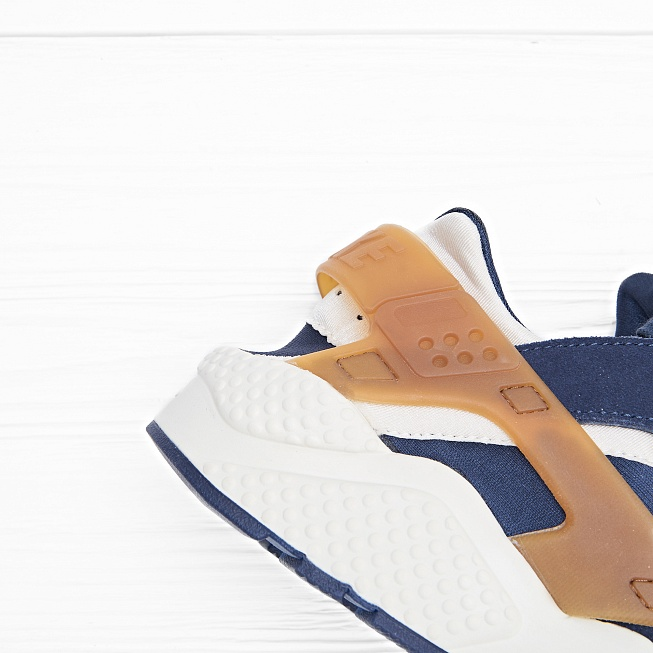 Кроссовки Nike AIR HUARACHE RUN Sail/Midnight Navy/Ale Brown - Фото 5