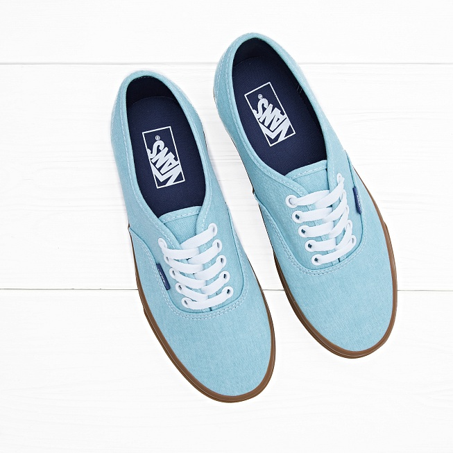 Кеды Vans AUTHENTIC Washed Blue Radiance - Фото 3