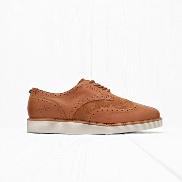 Ботинки Fred Perry NEWBURGH BROGUE LEATHER/SUEDE Light Tan