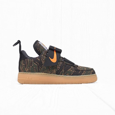 Кроссовки Nike x Carhartt WIP AIR FORCE 1 UT LOW PRM Camo Green/Total Orange/Gum Light Brown